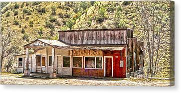 Jerome Arizona - General Store Canvas Print by Gregory Dyer