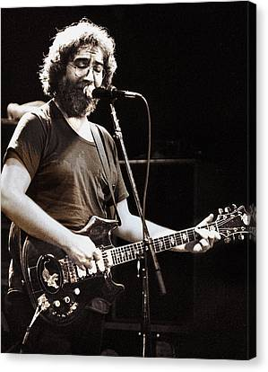 Jerry Garcia 1981 Canvas Print by Chuck Spang