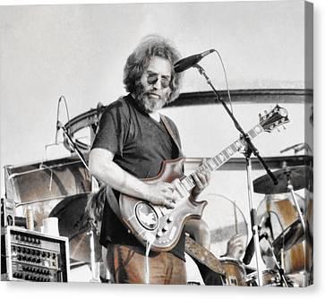 Jerry Garcia Canvas Print by Allan Van Gasbeck