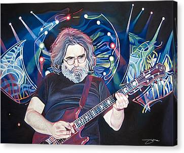 Jerry Garcia And Lights Canvas Print by Joshua Morton