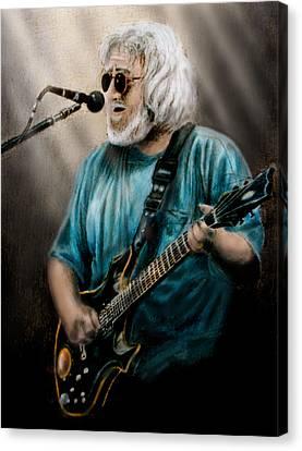 Jerry Garcia By Edward Pollick Canvas Print by Edward Pollick