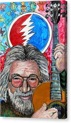 Jerry Garcia Fun Tribute Canvas Print by Emily Michaud