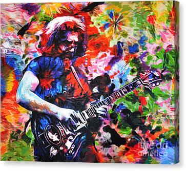 Jerry Garcia - Grateful Dead - Original Painting Print Canvas Print by Ryan Rock Artist