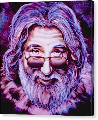 Jerry Garcia Canvas Print by Mike Underwood