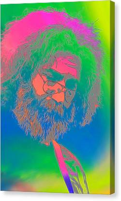 Jerry Garcia Tie Dye Canvas Print by Dan Sproul