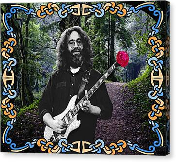 Jerry Road Rose 1 Canvas Print by Ben Upham