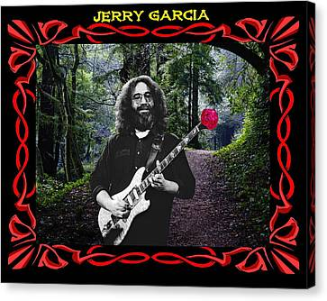 Jerry Road Rose 3 Canvas Print by Ben Upham