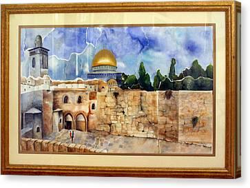 Jerusalem Cradle Of Civilization Canvas Print by Rachel Alhadeff
