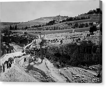 Jerusalem, Jewish Funeral, Photograph Canvas Print by Everett