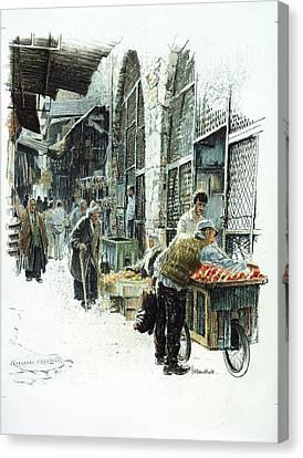 Jerusalem Street Canvas Print by Graham Braddock