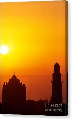 Jerusalem Sunrise Canvas Print by Thomas R Fletcher