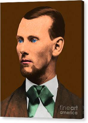 Jesse James 20130515 Canvas Print by Wingsdomain Art and Photography