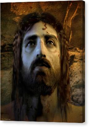 Jesus Alive Again Canvas Print by Ray Downing