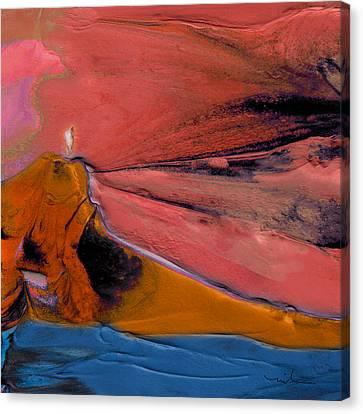 And Jesus Calmed The Sea Canvas Print by Miki De Goodaboom