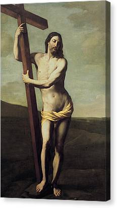 Jesus Christ And The Cross Canvas Print by Guido Reni