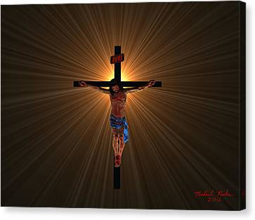 Jesus Christ Canvas Print by Michael Rucker