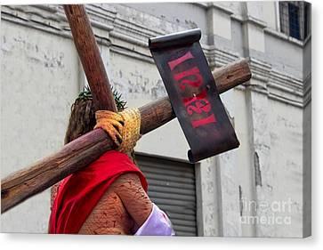 Jesus Died For Us IIi Canvas Print by Al Bourassa