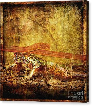Jesus Falls Third Time Via Dolorosa 9 Canvas Print by Lianne Schneider