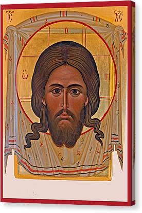 Jesus Head Icon Canvas Print by Munir Alawi