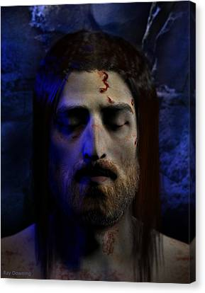 Jesus In Death Canvas Print by Ray Downing