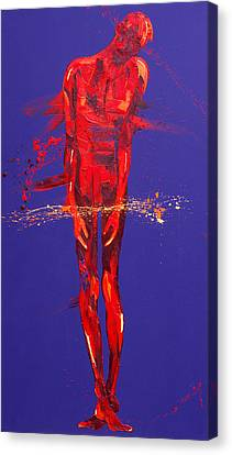 Jesus Is Condemned Station 1  Canvas Print by Penny Warden