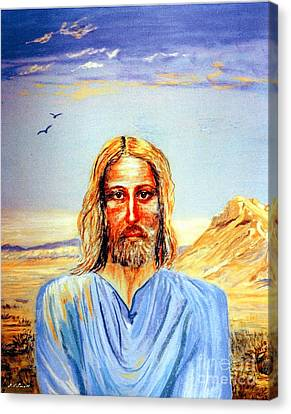 Jesus Canvas Print by Jane Small