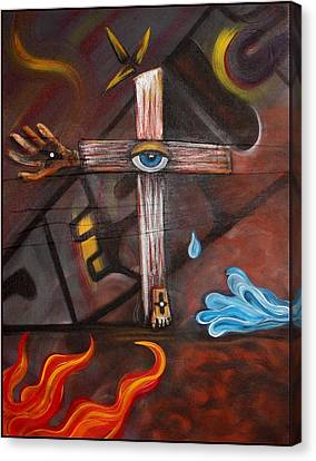 Jesus Canvas Print by Laura Barbosa