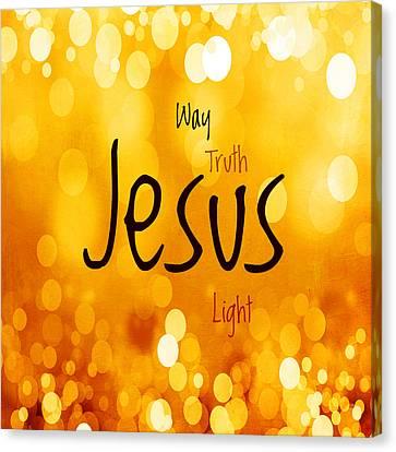 Jesus Light 1 Canvas Print by Angelina Vick