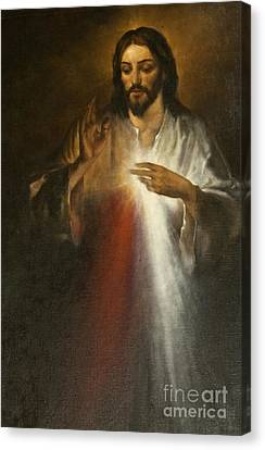 Jesus Of Divine Mercy Canvas Print by Dan Radi
