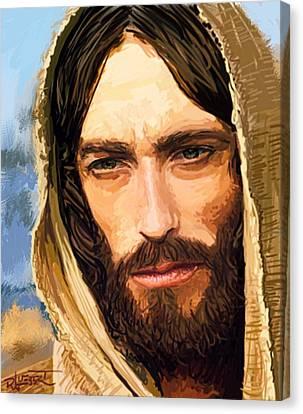 Jesus Of Nazareth Portrait Canvas Print by Dave Luebbert