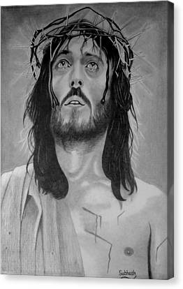 Jesus Of Nazareth Canvas Print by Subhash Mathew