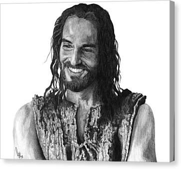 Jesus Smiling Canvas Print by Bobby Shaw