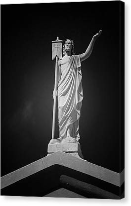 Jesus St Louis Cemetery No 3 New Orleans Canvas Print by Christine Till