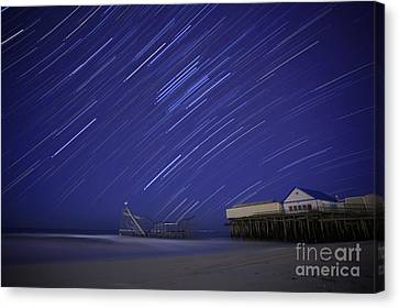 Jet Star Trails Canvas Print by Amanda Stevens