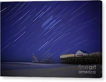 Jet Star Trails Canvas Print by Amanda Stevens