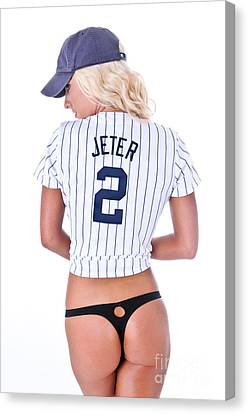 Jeter Fan Canvas Print by Jt PhotoDesign