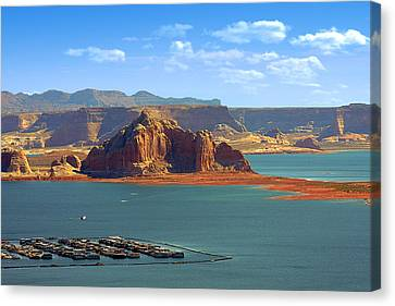 Jewel In The Desert - Lake Powell Canvas Print by Christine Till