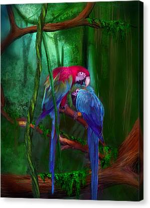 Jewels Of The Jungle Canvas Print by Carol Cavalaris