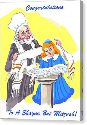 Bat Mitzvah Girl Canvas Print by Shirl Solomon