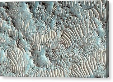 Jezero Crater Canvas Print by Nasa/jpl-caltech/university Of Arizona
