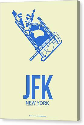 Jfk Airport Poster 3 Canvas Print by Naxart Studio