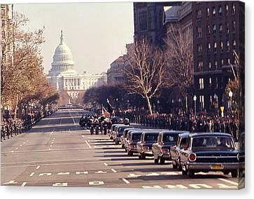 Jfk Funeral  Canvas Print by Retro Images Archive