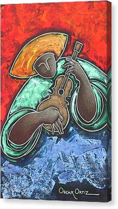 Jibaro Encendi'o Canvas Print by Oscar Ortiz