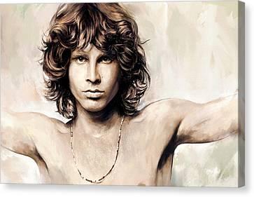 Jim Morrison Artwork 1 Canvas Print by Sheraz A