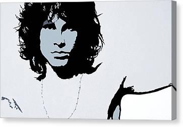 Jim Morrison Canvas Print by Bryan Dubreuiel
