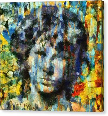 Jim Morrison Canvas Print by Dan Sproul
