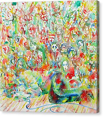 Jim Morrison Live On Stage.2 Canvas Print by Fabrizio Cassetta