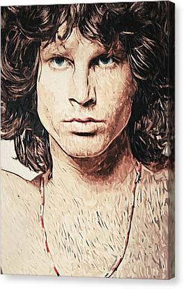 Jim Morrison Canvas Print by Taylan Apukovska