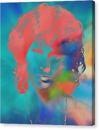 Jim Morrison Tie Dye Canvas Print by Dan Sproul