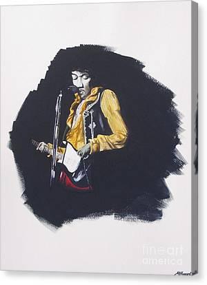 Jimi At Monterey 2 Canvas Print by Martin Howard